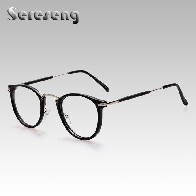 2017 Fashion Women Clear Lens Eyewear Unisex Retro Optical Glasses Oval Frame Metal Eyeglasses Round Glasses 8107