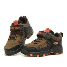 Открытый спортивные туфли для детей водонепроницаемый мальчиков Бег кроссовки износостойкие модные теплые противоударный Спортивные туфли A601