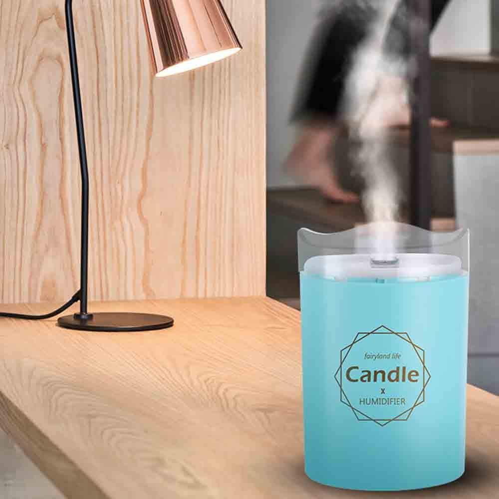 300ML Mini  Ultrasonic Air Humidifier Soft Light USB Essential Oil Diffuser Car Purifier Aroma Anion Mist Maker|  - title=