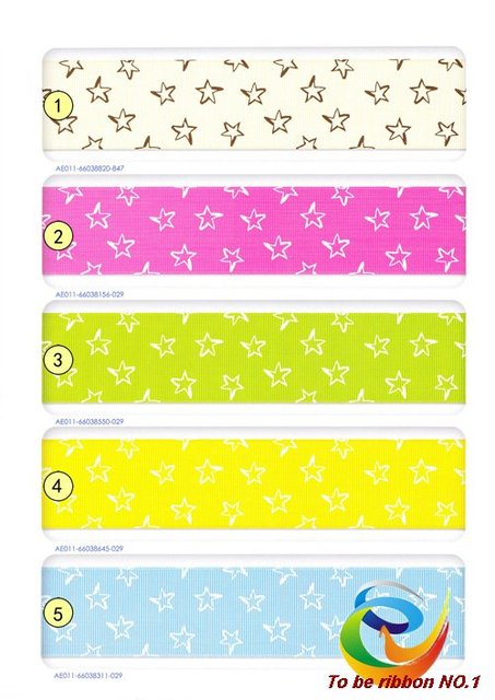 "100Ys Brand New 1-1/2""(38mm) Baby Printed Grosgrain Ribbon~Wholesale Lovely Star Printing Hair Accessories  WY-237 Free Shipping"