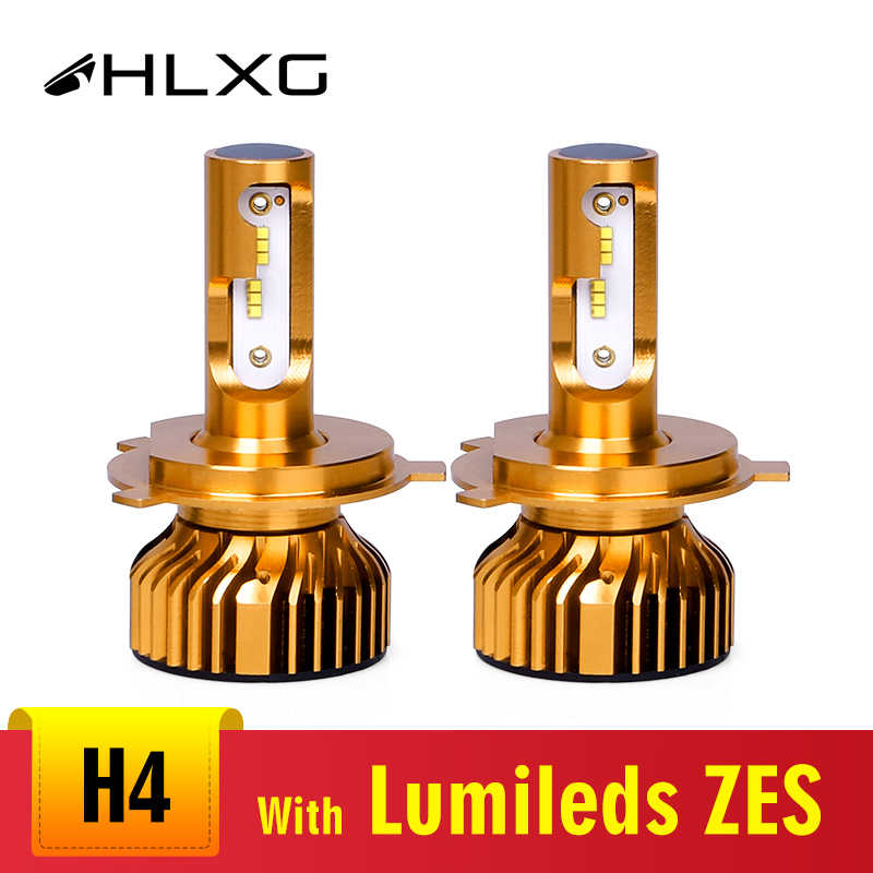 HLXG type H4 Hi Li mini H7 LED Canbus with ZES  chips 72W/set 12000LM 9006 9005 H1 H11 far light  FOR front LED lamp headlamp