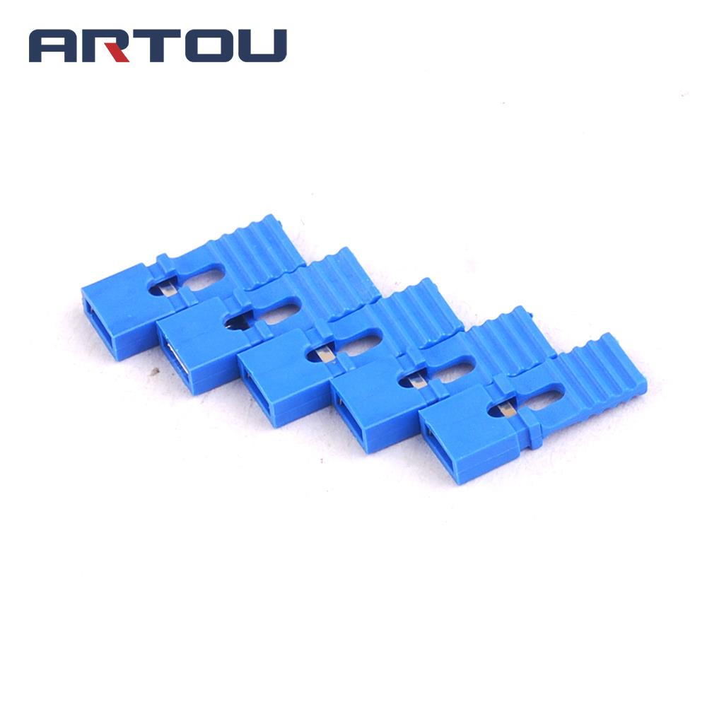 200PCS Lengthened Jumper Cap Long Handle Jumper Cap Blue 2.54mm