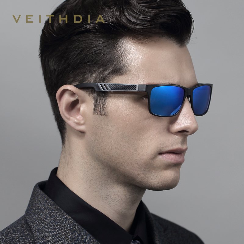 VEITHDIA Aluminum Polarized Lens Sunglasses Men Mirror Driving Sun Glasses Glasses Square Eyewear Accessories shades 6560