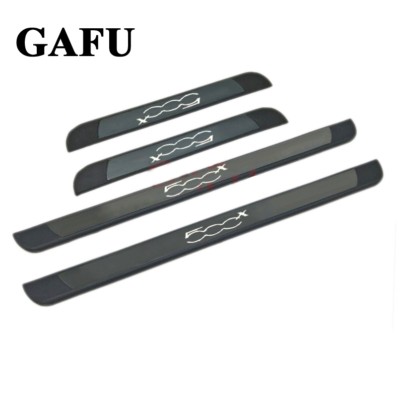 Car-styling Stainless Steel Scuff Plate Door Sill Cover For FIAT 500X Car Accessories 2 pcs lot home use hydrogen rich water ionizer maker ac110 240v