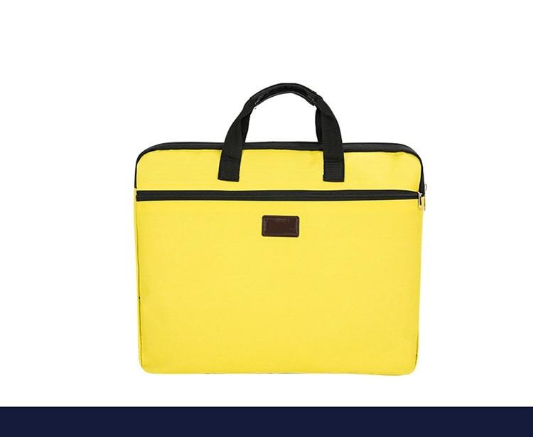 HTB1YDFVXRiE3KVjSZFMq6zQhVXae Portable document bag canvas A4 office zipper bag large capacity men women handbag multi-layer information bag briefcase meeting