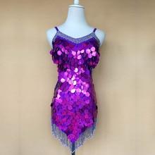 New style Latin dance costumes sexy senior stones beads tassel latin dance dress for women latin dance dresses S-4X