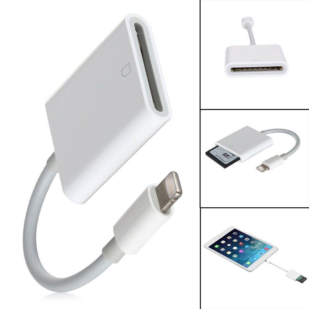 Lightning To SD Card Camera Reader Adapter Compatible OTG Data Cable Digital Kit For IPad Mobile Phone Android IOS