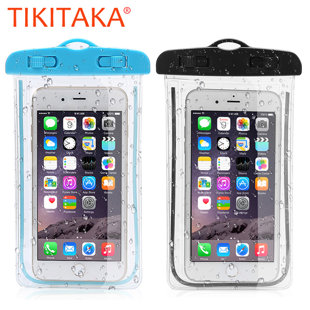 buy online 883b7 a519c US $1.59 20% OFF|Clear Luminous Waterproof phone Cases For iphone X 8 7 6s  5 Cover Universal 6.0