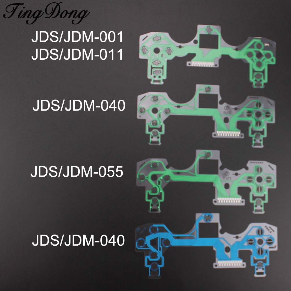 TingDong  Replacement Buttons Ribbon Circuit Board For PS4 Dualshock 4 Pro Slim Controller Conductive Film Keypad Flex Cable PCB