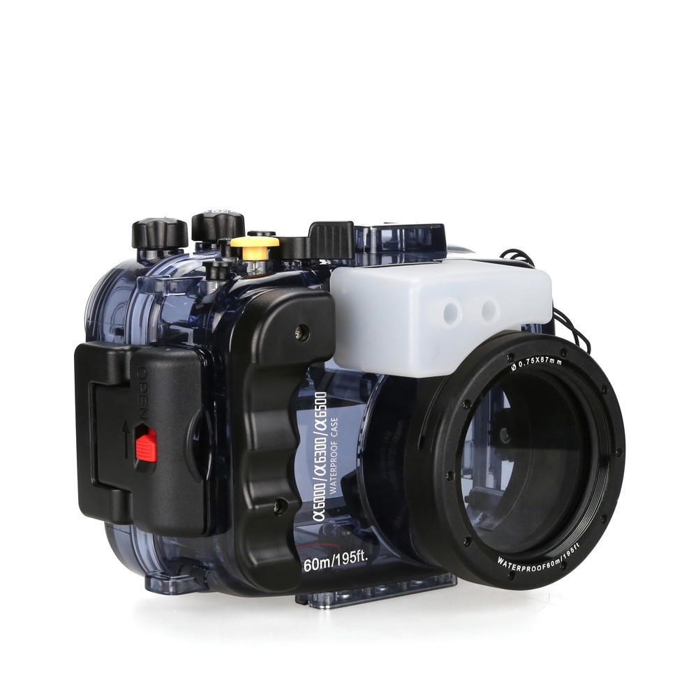 SeaFrogs Waterproof Underwater Camera Housing Case for Sony Alpha A6000 A6300 A6500 40m/130ft waterproof Used With 16-50mm Lens mcoplus 40m 130ft camera underwater housing waterproof shell case for nikon j5 10mm lens