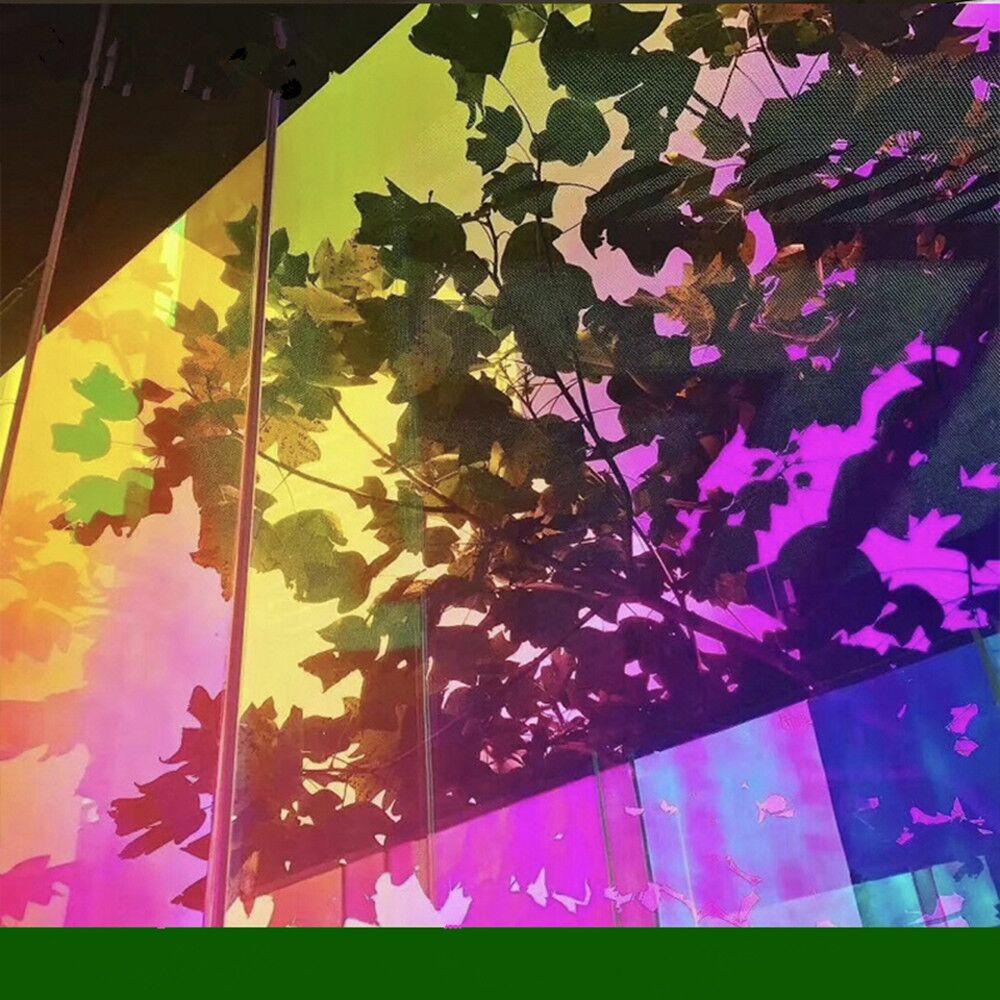 137x500 cm Chameleon Colore di Auto-Adesivo Finestra Velo di Vetro Smerigliato Opaco Finestra Tinta Opaca Adesivi per Halloween partito Decor