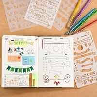 12 oder 20 stücke Kugel Journal Stencil Set Kunststoff Planer DIY Zeichnung Vorlage Tagebuch Scrapbooking aufkleber