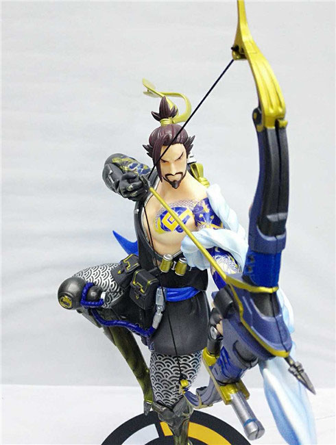 Free Shipping 11 Hot Game Hero Shimada Hanzo Boxed 28cm PVC Action Figure Collection Model Doll Toy Gift free shipping 14 hot game hero caitlyn the sheriff of piltover boxed 35cm pvc action figure collection model doll toy gift
