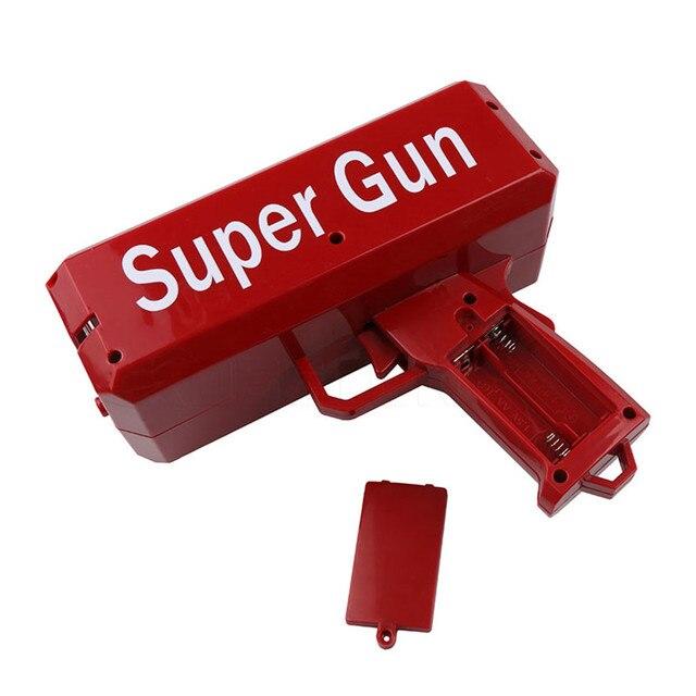 Make It Rain Money Gun Red Fashion Toy Christmas Gift Party Toys Game 1PCS Cash Cannon Funny Money Gun Toy Pistol Toy 3