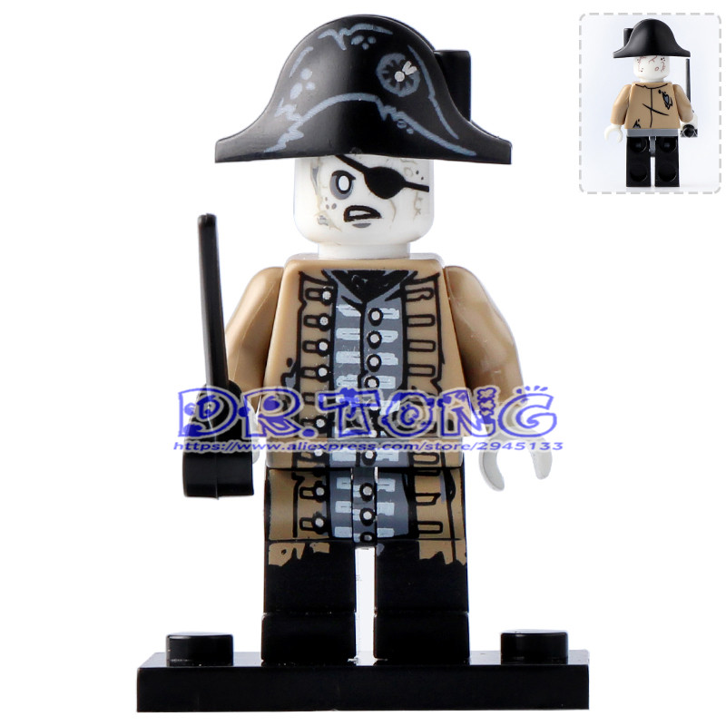 DR.TONG Single Sale PG8048 Pirates of the Caribbean Lesaro Captain Jack Edward Mermaid Davy Jones Buildng Blocks Bricks Toys
