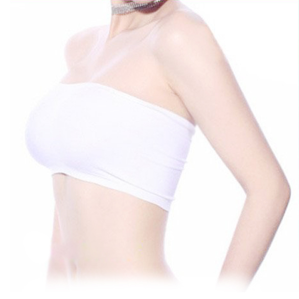 efc845542afb5 Seamless Strapless Bandeau Tube Tops Bra For Girls Women White Wholesale    Dropshipping