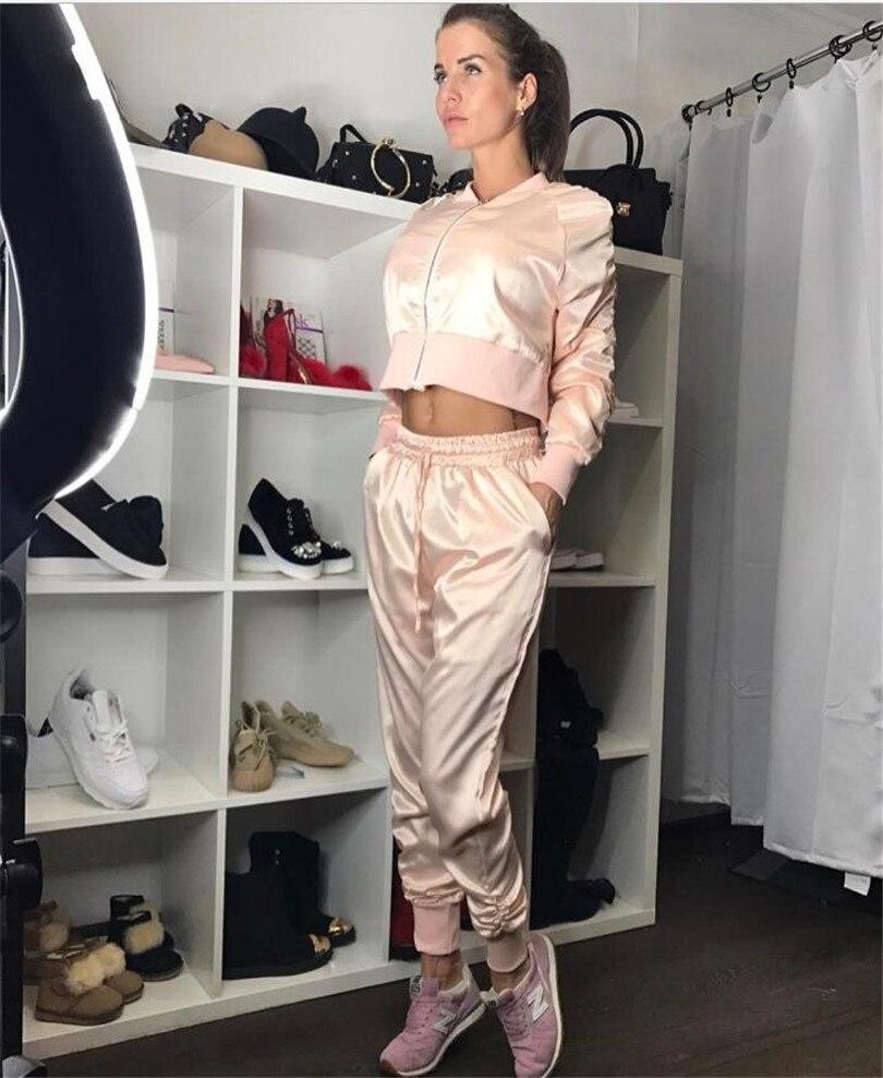 Solide Casual Ensembles Deux À Top Mode Survêtements Fermeture Costumes De Manteau Ridée Polyester Femmes Noir 2018 Pantalon Nouveau Pleine V Glissière rose cou FqwnHUa6