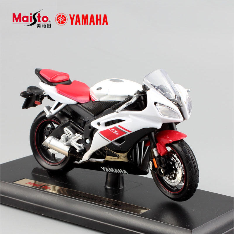 brand 118 scale children metal diecast yamaha yzf r6 motorcycle sport racing car models engine toys moto car for kids boys 2017