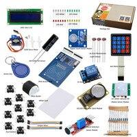 RFID Starter Kit for Arduino Basic Learning Suite UnO R3 Kit Upgraded Stepper Motor LCD1602 LED Relay Buzzer US