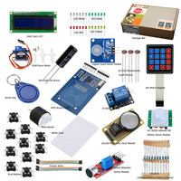 RFID Starter Kit For Arduino Basic Learning Suite UnO R3 Kit Upgraded Stepper Motor LCD1602 LED