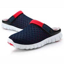 New 2017 Men Slippers Fashion Breathable Hollow Out Flip Flops mesh Trend summer outside lazy men hombre