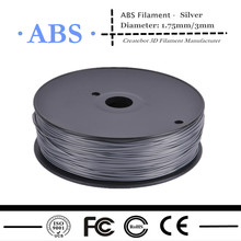 hot selling 3d printer ABS filament silver
