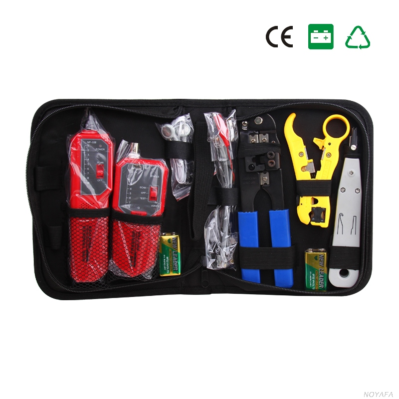NF-1203 Tracer check-ray none noise device length tester Wire Tracker includ Wire tracker NF-268 Punch Down Tool RJ45 Plug Crimp
