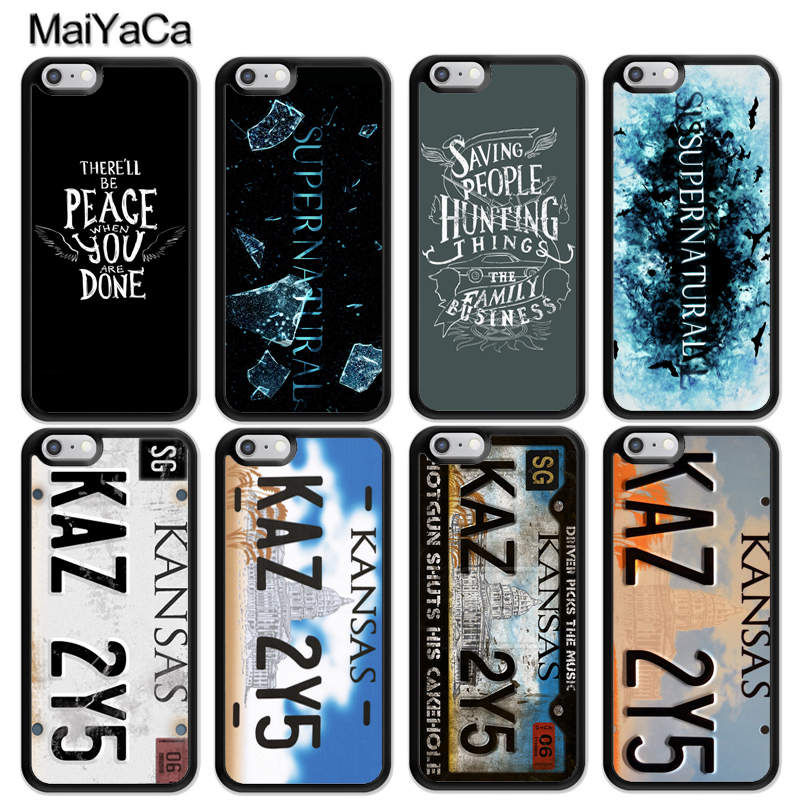 MaiYaCa KAZ 2Y5 Supernatural Quotes Style Soft Rubber Skin Phone Cases For iPhone 6 6S 7 8 Plus X XR XS MAX 5S SE Back Cover image
