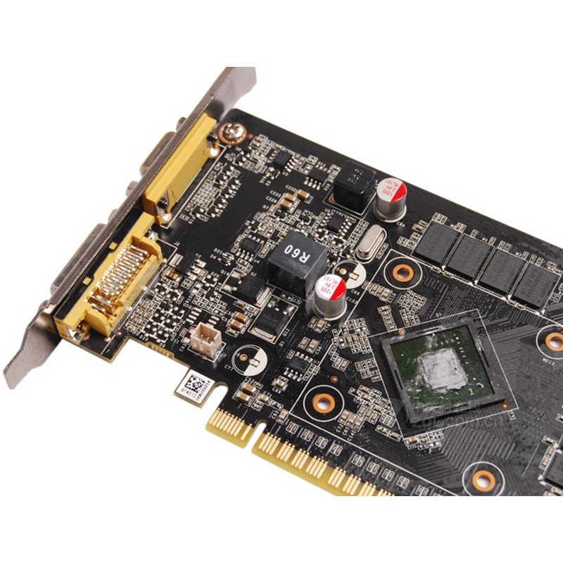 ZOTAC بطاقة جرافيكس GeForce GT 610 1GB 64Bit GDDR3 بطاقة فيديو وحدة معالجة الرسومات خريطة ل NVIDIA الأصلي GT610 1GD3 Dvi VGA PCI-E Iceman VB VD