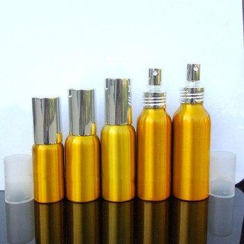 Gold Aluminum Bottle 30ml 50ml 60ml Screw Mouth Bottle Empty Spray Bottle 100ml Refillable Traveling Vial Cosmetic Packing 80ml