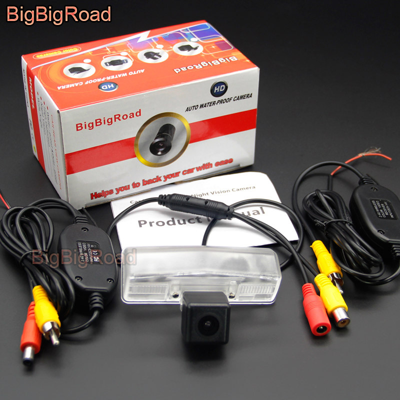 BigBigRoad Car Rear View Parking CCD Camera For Toyota Altezza Aristo Celsior C HR Prius XW10 XW20 XW30 XW35 XW40 Night Vision in Vehicle Camera from Automobiles Motorcycles