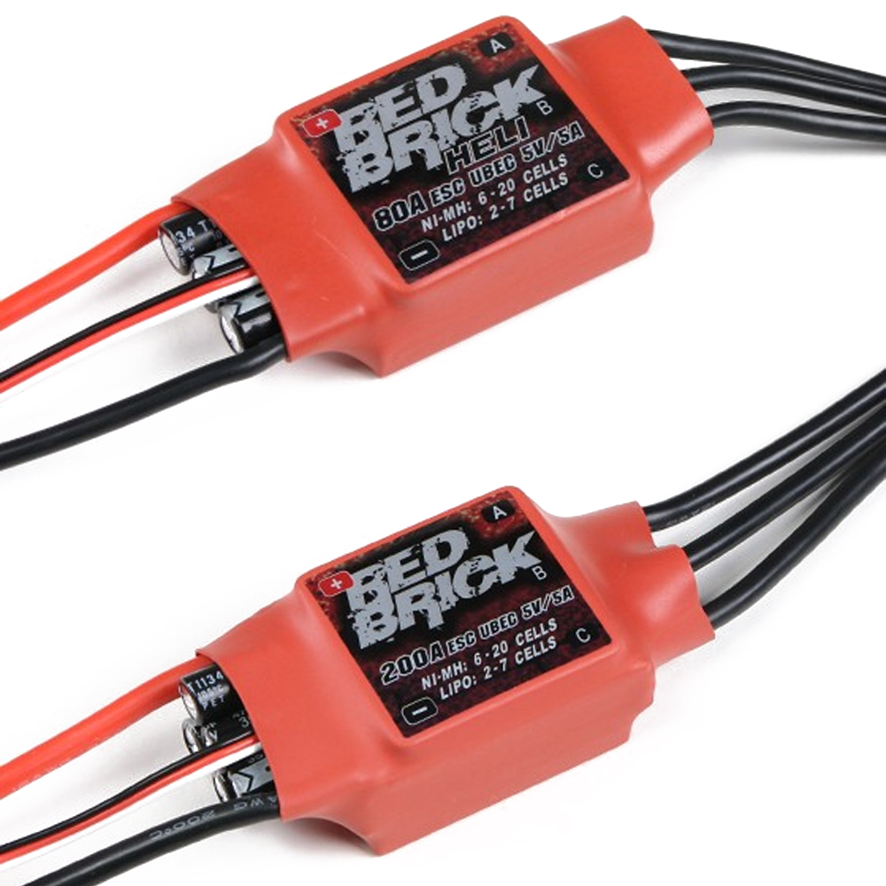1pcs Red Brick ESC 50A/70A/80A/100A/125A/200A Brushless ESC Electronic Speed Controller 5V/3A 5V/5A BEC for FPV Multicopter-in Parts & Accessories from Toys & Hobbies