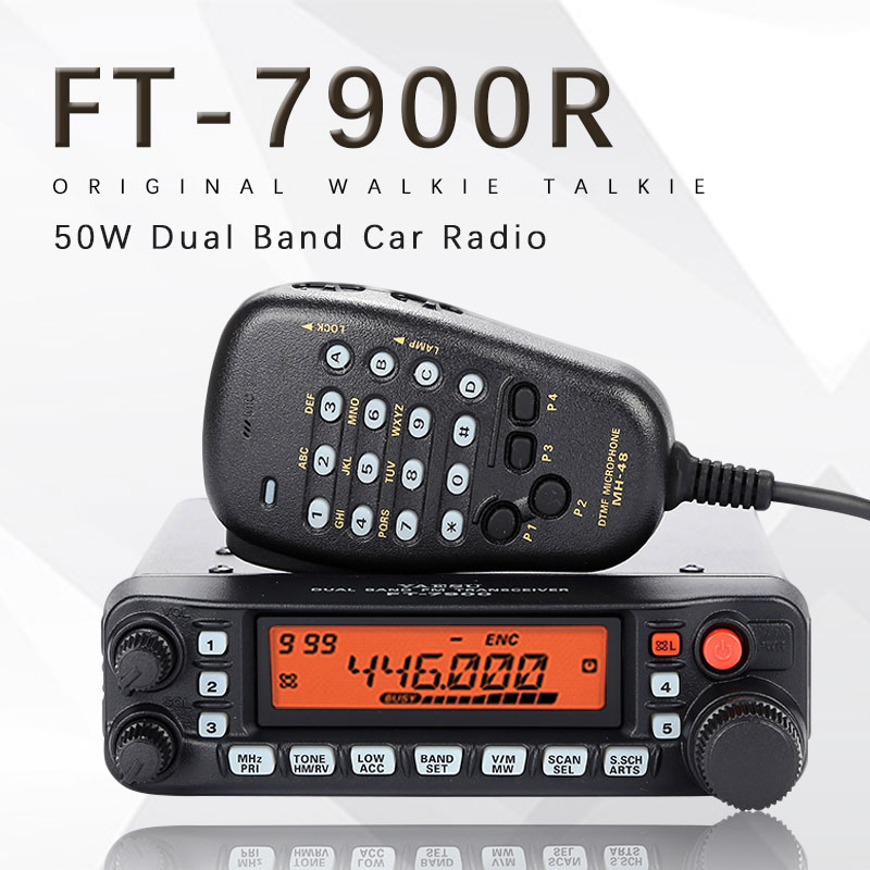 General Yaesu FT-7900R Car Mobile Radio Dual Band 10KM Two Way Radio Vehicle Base Station Radio Walkie Talkie Transceiver FT7900