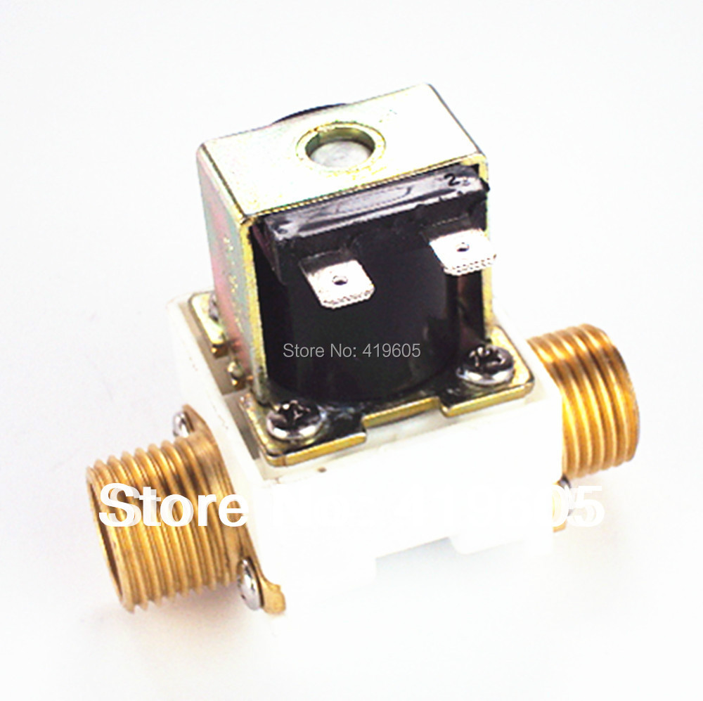 "Фотография aliexpress hot sale 2 pcs free shipping solenoid valve 1/2"" 12v 220v 24v electronic valve filter copper joints high quality pp ,"