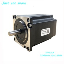цена на Leadshine nema 23 Stepper Motor 57HS21A 8mm Shaft 5A 2.1 N.M 76mm CNC machine engraving machine