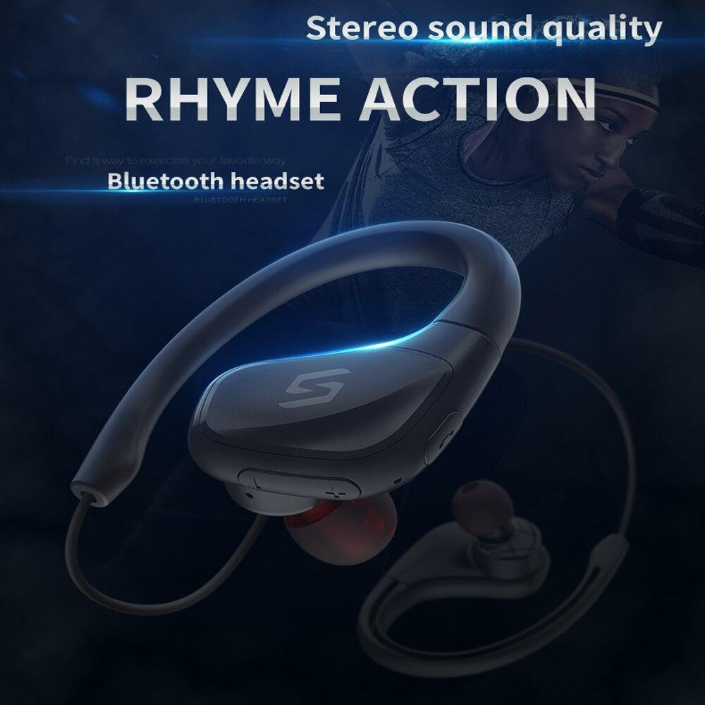 2018 NEW headphone Bluetooth earphone voice support Neckband headphone sport earphone inside battery wireless headphone running
