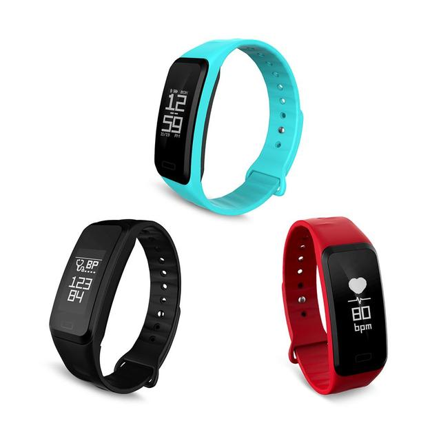 C1s Smart Bracelet Blood Pressure Heart Rate Step Health Exercise Touch Monitoring