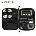 MANFITER Waterproof Travel Wire Storage Bag Electronic Accessories Tool Pouch Organizer Hard Drive SD Card USB Data Cable Bag