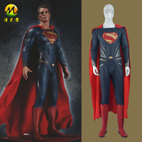 Upgraded Version Batman Superman Dawn Of Justice Clark Kent Tights Adult Cosplay Costume With Cape And
