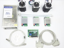 Kit Enrutador CNC de 3 Ejes, 3 unids 4.5A TB6600 DEL TABLERO de conductor del motor de pasos + 3 unids Nema23 312 oz-in motor + 5 ejes interfaz placa + fuente de alimentación