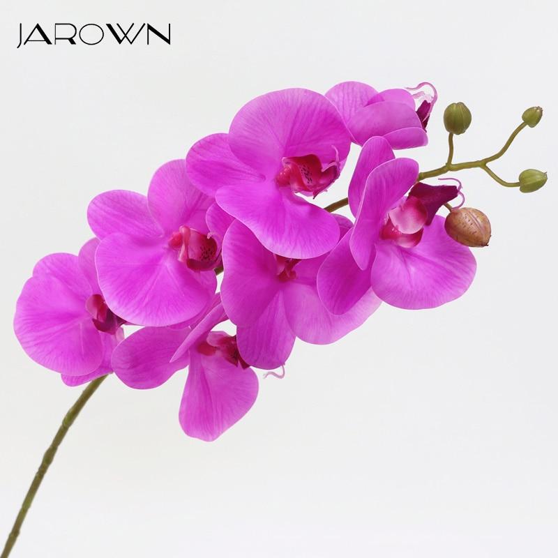 Lule Orkide Artificiale Prekja e Vërtetë Butterfly Artificial - Furnizimet e partisë - Foto 1