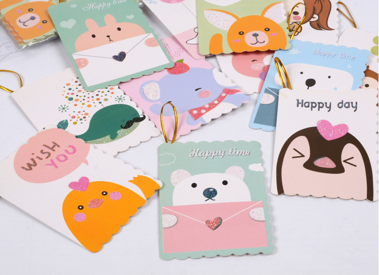 160pcs Cartoon Holiday Card Creative Mother 39 s Day Simple Gift Thank You Birthday Message Card Festival Party Supplies in Cards amp Invitations from Home amp Garden
