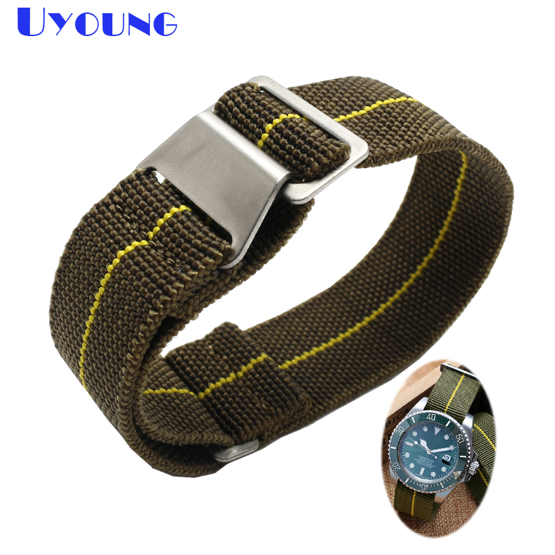 High Quality Nylon Watch band 20mm 21mm 22mm Men The elastic Watch Bracelet army green accessories nylon nato military watchband 2018 new style nato strap 16mm watchband silver buckle army military nylon watch band bracelet for watch bracelet 16 mm