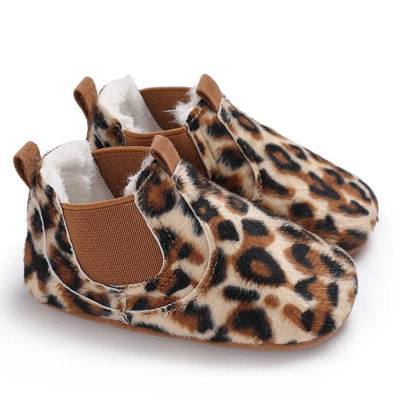 Sneakers Crib Prewalker Leopard-Shoes Newborn Baby-Boy-Girl Soft-Sole Anti-Slip 0-18M