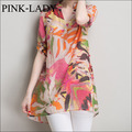 Summer Womens Plus Size Short Sleeve V-neck Cotton and Linen Long Blouse Vintage Oil Painting Shirts Casual Tops XL 2XL 3XL 4XL