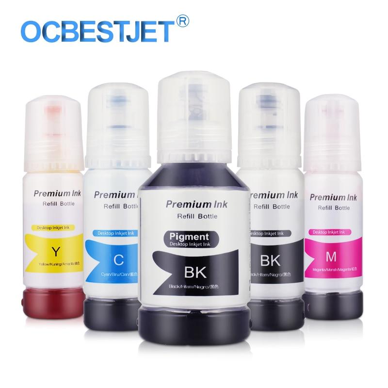 001 Ecotank Inkt Flessen T001 Refill Dye Inkt Voor Epson Ecotank L6170 L6160 L6190 L4150 L4160 L3150 L3110 Printer Inkt Serie Om Tot De Eerste Te Behoren Onder Vergelijkbare Producten