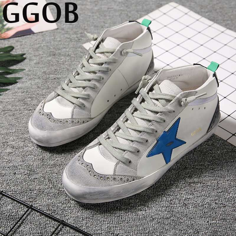 GGOB 2018 Casual Shoes Fashion Ladies Genuine Leather Womens Flats Woman Brand Plus Size Flat With White Outdoor Walking Girl