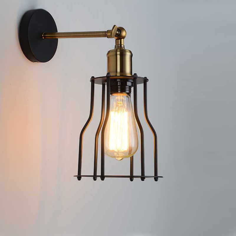 Loft American Vintage Wall Lamps Bedroom Bedside Lamp Industrial Warehouse/Balcony/Aisle/Cabin Wall Lights Edison Lamps american loft vintage wall lights with iron lampshade industrial wall lamp for store aisle restaurant bar cafe edison lamps