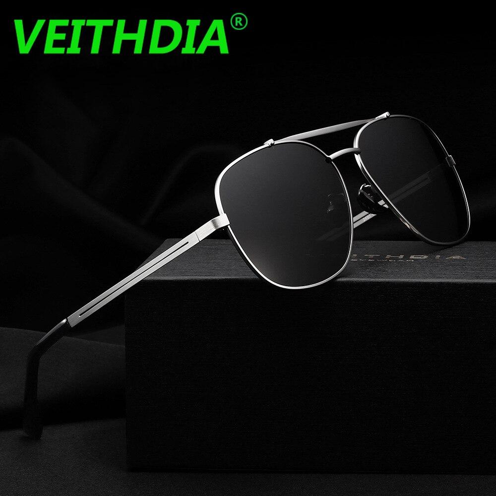 aa931477923 VEITHDIA Brand HD Polarized Sunglasses Men s Driving Sun Glasses oculos  Square Vintage UV400 Male Eyewear For Men 2493