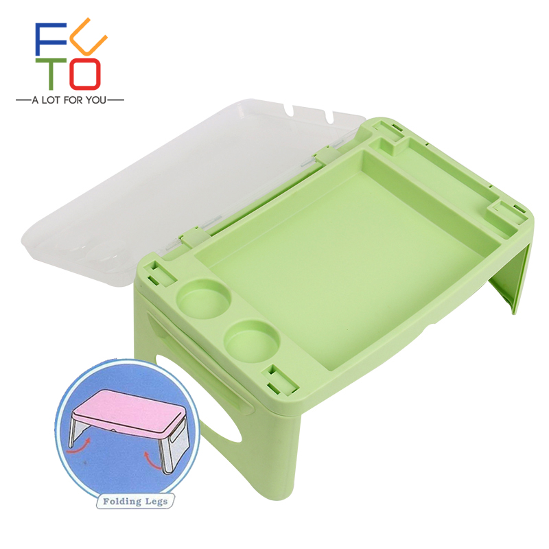 купить Portable Folding Lap Desk Table Childrens Kids Study Desk Travel Desk Breakfast Table Bed Tray Bed Table Book Stand Writing Desk по цене 2010.69 рублей
